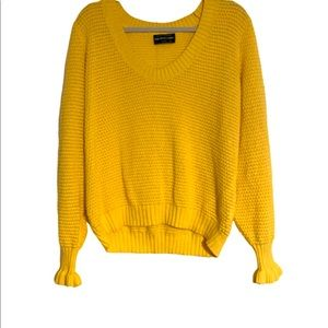 The Fifth Label Yellow Calendar Sweater Sz L